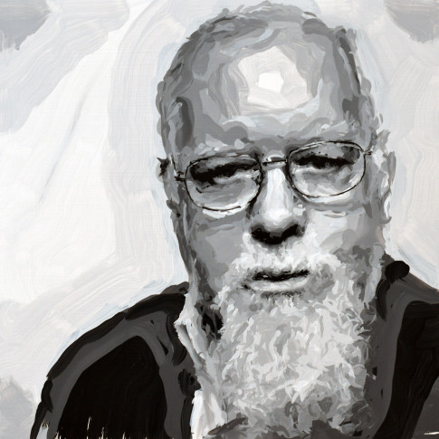 "<span class=""artist""><strong>Rob and Nick Carter</strong></span>, <span class=""title""><em>Peter Blake Robot Painting, Painting time: 14:21:45 Stroke count: 5,624 12-14 November 2019</em></span>"