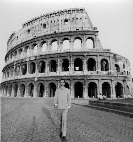 "<span class=""artist""><strong>Tseng Kwong Chi</strong></span>, <span class=""title""><em>Rome, Italy (Coliseum, Day)</em>, 1989</span>"
