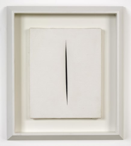 <span class=&#34;artist&#34;><strong>Lucio Fontana</strong></span>, <span class=&#34;title&#34;><em>Concetto Spaziale, Attesa</em>, 1965-66</span>