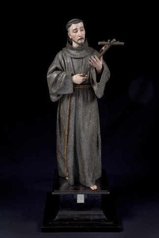 "<span class=""artist""><strong>Pedro de Mena y Medrano</strong></span>, <span class=""title""><em>Saint Francis of Assisi</em>, 1677</span>"