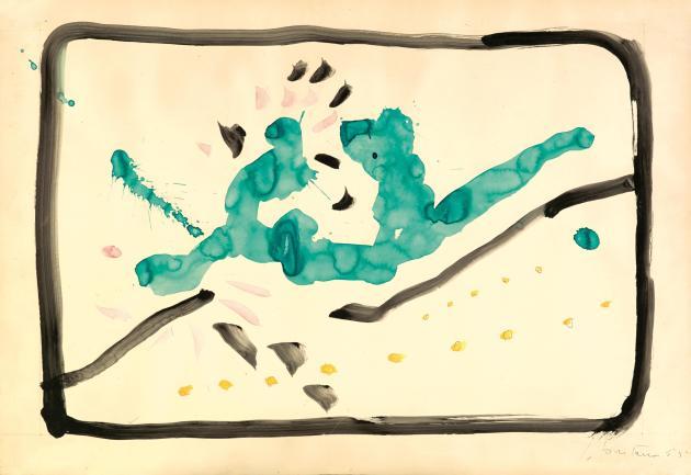 <span class=&#34;artist&#34;><strong>Lucio Fontana</strong></span>, <span class=&#34;title&#34;><em>Concetto Spaziale</em>, 1955</span>