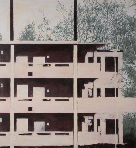 <span class=&#34;artist&#34;><strong>Heribert C. Ottersbach</strong></span>, <span class=&#34;title&#34;><em>Haus am Wald (letzte gefechte) (House Near Forest) (Final Battles)</em>, 2007</span>