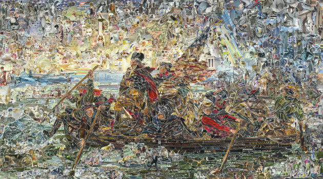 <span class=&#34;artist&#34;><strong>Vik Muniz</strong></span>, <span class=&#34;title&#34;><em>Washington Crossing the Delaware, after Emanuel Leutze</em>, 2012</span>