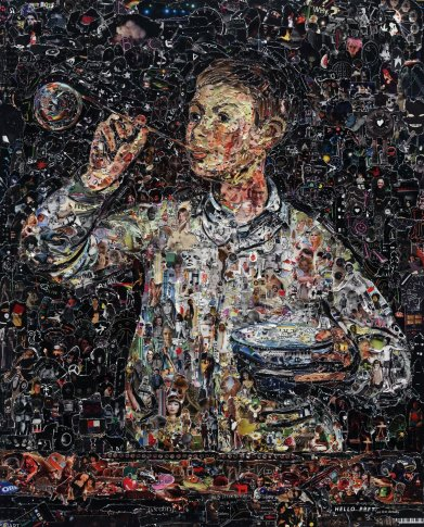 <span class=&#34;artist&#34;><strong>Vik Muniz</strong></span>, <span class=&#34;title&#34;><em>Boy Blowing Bubbles, after Manet</em>, 2011</span>