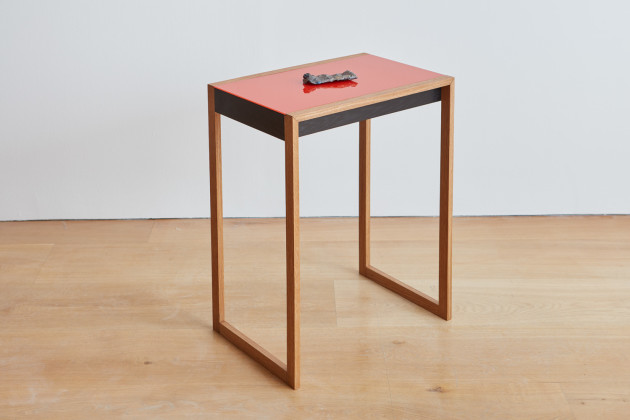 <span class=&#34;artist&#34;><strong>Gavin Turk</strong></span>, <span class=&#34;title&#34;><em>Payne's Grey (Albers Table)</em>, 2016</span>