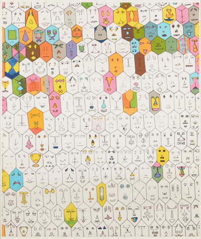 <span class=&#34;artist&#34;><strong>Alighiero Boetti</strong></span>, <span class=&#34;title&#34;><em>Faccine Colorate</em>, 1979</span>