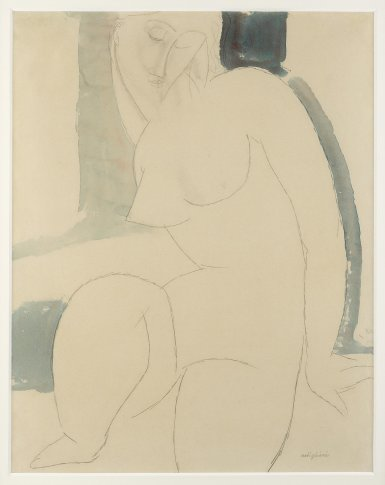 <span class=&#34;artist&#34;><strong>Amedeo Modigliani</strong></span>, <span class=&#34;title&#34;><em>Nu Assis</em>, c. 1914</span>