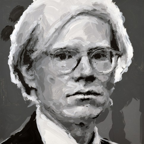 "<span class=""artist""><strong>Rob and Nick Carter</strong></span>, <span class=""title""><em>Andy Warhol Robot Painting, Painting time: 15:10:00 Stroke count: 6,210 18-19 October 2019 </em></span>"