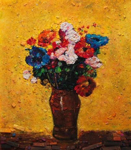 <span class=&#34;artist&#34;><strong>Vik Muniz</strong></span>, <span class=&#34;title&#34;><em>Metachrome (Flowers, after Odilon Redon I)</em>, 2016</span>