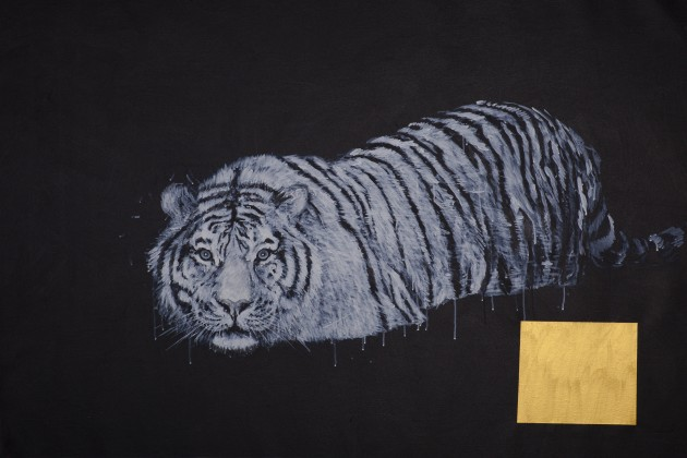 <p><strong>Ye Linghan, </strong><em>Gold.Circle.Tiger 04, </em>2014</p>