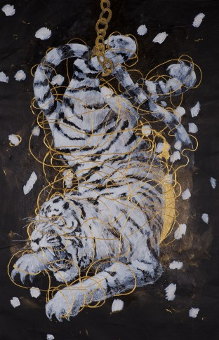 <p><strong>Ye Linghan,&#160;</strong><em>Gold.Circle.Tiger 09,&#160;</em>2014</p>