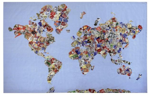 <p><b>Gavin Turk</b><span>&#160;</span><i>Mappa del Mundo</i><span>, 2008</span></p>