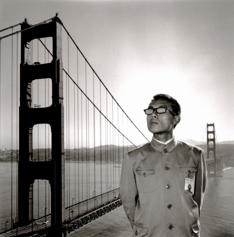 <p><b><b>Tseng Kwong Chi</b>&#160;</b>(1950 - 1990),&#160;<i>San Francisco, California (Golden Gate Bridge)</i>, 1979</p>