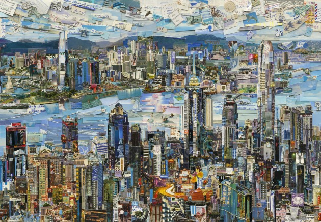 <p><b>Vik Muniz</b><br /> <i>Hong Kong Postcard (Postcards from Nowhere),</i> 2014<br /><br /></p>