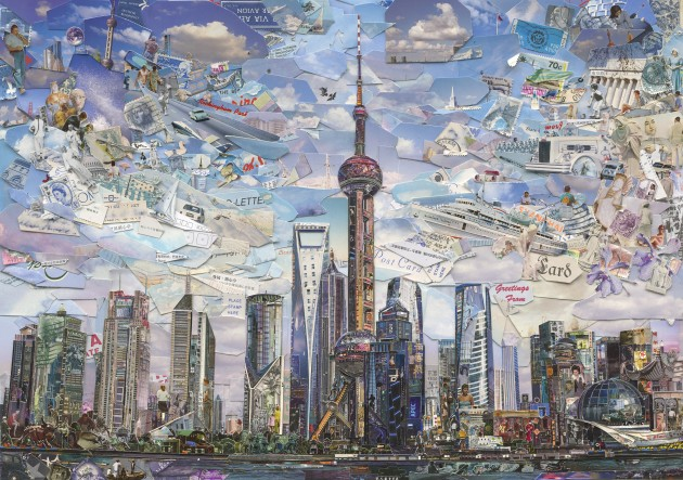 <p><b>Vik Muniz</b></p><p><i>Shanghai Postcard (Postcards from Nowhere)</i>, 2014</p>