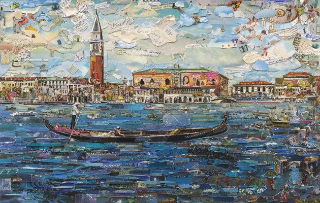 <p><b>Vik Muniz</b></p><p><i>Venice (Postcards from Nowhere)</i>, 2014</p>
