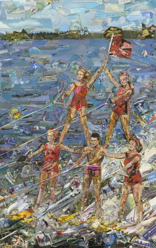 <p><b>Vik Muniz<br /> </b><i>Waterskiing (Postcards from Nowhere),</i> 2014<br /><br /></p>