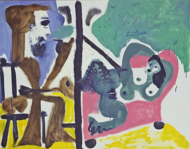<SPAN class=artist><STRONG>Pablo Picasso</STRONG></SPAN>, <SPAN class=title><EM>Le Peintre et son Modèle</EM>, 1963</SPAN>