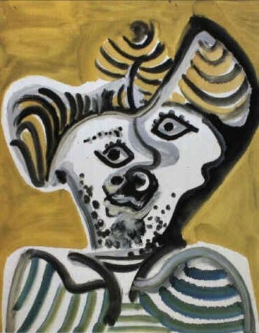 <SPAN class=artist><STRONG>Pablo Picasso</STRONG></SPAN>, <SPAN class=title><EM>Tête d'Homme</EM>, 1972</SPAN>