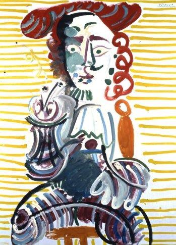 <SPAN class=artist><STRONG>Pablo Picasso</STRONG></SPAN>, <SPAN class=title><EM>Homme à la Pipe</EM>, 1968</SPAN>