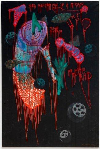 <span class=&#34;artist&#34;><strong>Eko Nugroho</strong></span>, <span class=&#34;title&#34;><em>Ilusi ketakutan dalam semenit (Illusion of Fear in a minute)</em>, 2011</span>