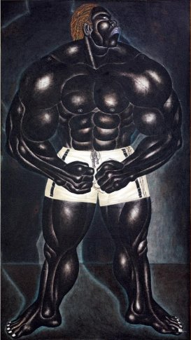 <span class=&#34;artist&#34;><strong>Nyoman Masriadi</strong></span>, <span class=&#34;title&#34;><em>Mr. Universe (Manusia Batu)</em>, 2002</span>