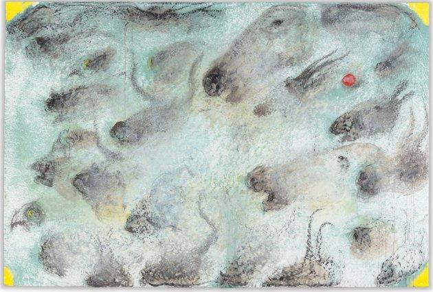 <span class=&#34;artist&#34;><strong>Miquel Barceló</strong></span>, <span class=&#34;title&#34;><em>Quatre Coins Jaunes</em>, 2013</span>