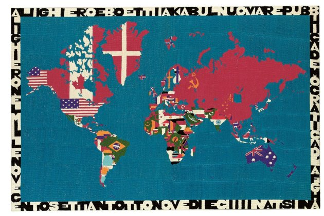<span class=&#34;artist&#34;><strong>Alighiero Boetti</strong></span>, <span class=&#34;title&#34;><em>Mappa (Alighiero Boetti a Kabul Nuova Republica Democratica d'Afghanistan - Alighiero Nel Millenovecentosettantotto Nove Diece)</em>, 1978</span>