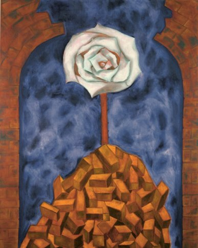 <span class=&#34;artist&#34;><strong>Francesco Clemente</strong></span>, <span class=&#34;title&#34;><em>White Rose, Red Earth</em>, 2010</span>