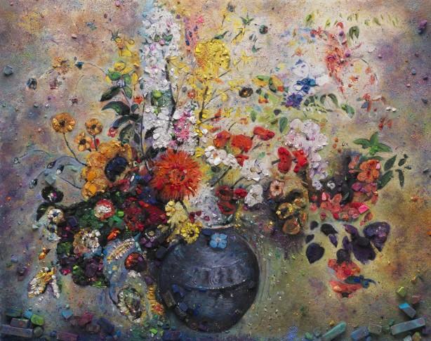 <span class=&#34;artist&#34;><strong>Vik Muniz</strong></span>, <span class=&#34;title&#34;><em>Metachrome (Flowers, after Odilon Redon II)</em>, 2016</span>