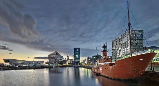 Albert Dock, Liverpool at Sunset