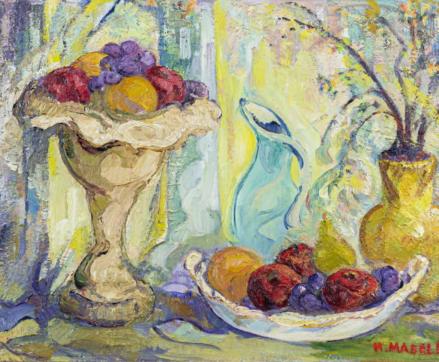H. Mabel May, A.R.C.A., ''Still Life wi'h Fruit''