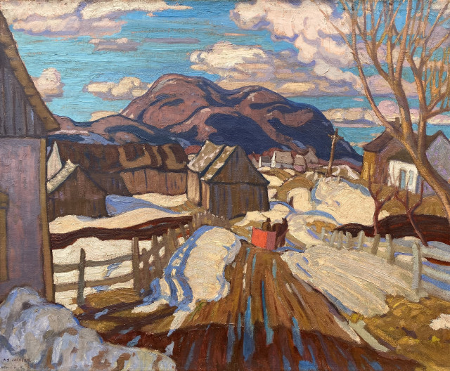 """A.Y. Jackson's """"Early Spring, Quebec"""", 1926"""