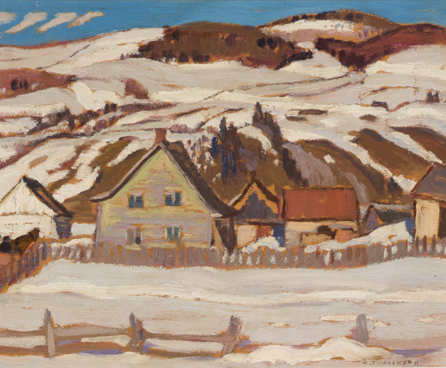 A.Y. Jackson 1882-1974 Farm, St-Lawrence, North Shore, 1929 (April)