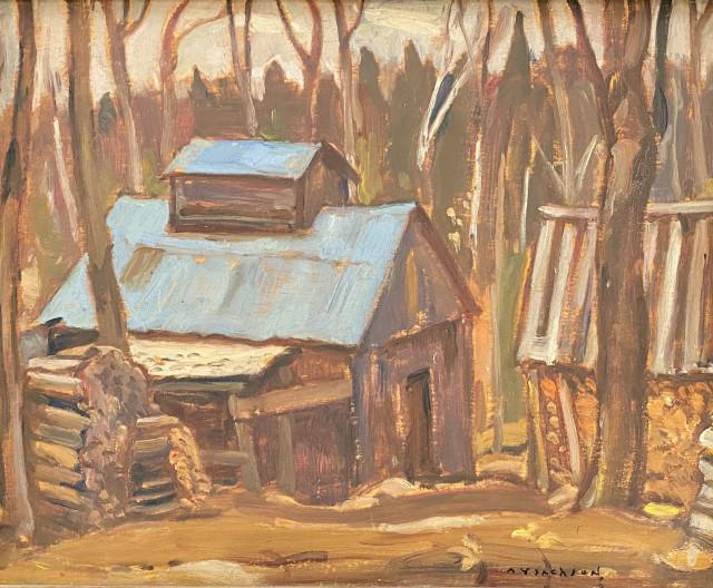"""A.Y. Jackson, """"Sugar Shanty, L'Islet"""", 1944"""