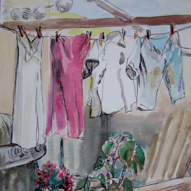 E. Tilly Strauss, laundry day, 2012