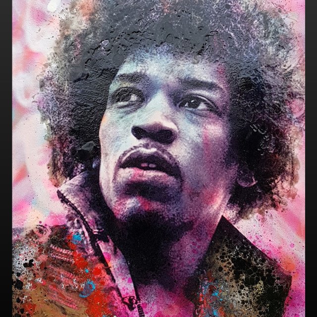 <span class=&#34;artist&#34;><strong>Dan Pearce</strong></span>, <span class=&#34;title&#34;><em>Jimi Hendrix</em>, 2018</span>