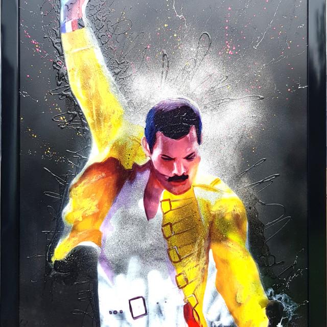 <span class=&#34;artist&#34;><strong>Dan Pearce</strong></span>, <span class=&#34;title&#34;><em>Freddie - I Want To Break Free  (Black)</em>, 2018</span>