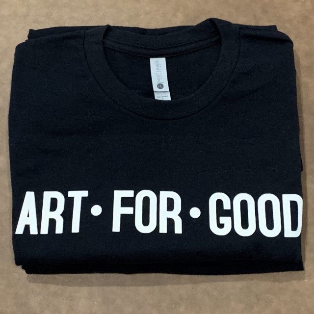 Winston Contemporary Art, Art For Good T-shirt, Black, 2018