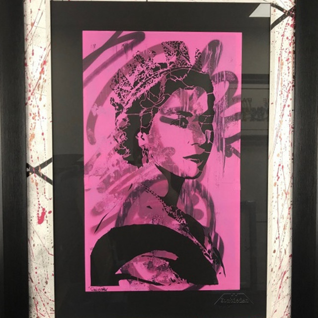 "Win This hand–cut Zombiedan stencil ""Royal Decay"" worth 2K!"