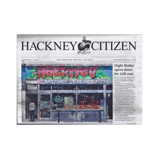Marc Gooderham - Hackney Citizen Front Page