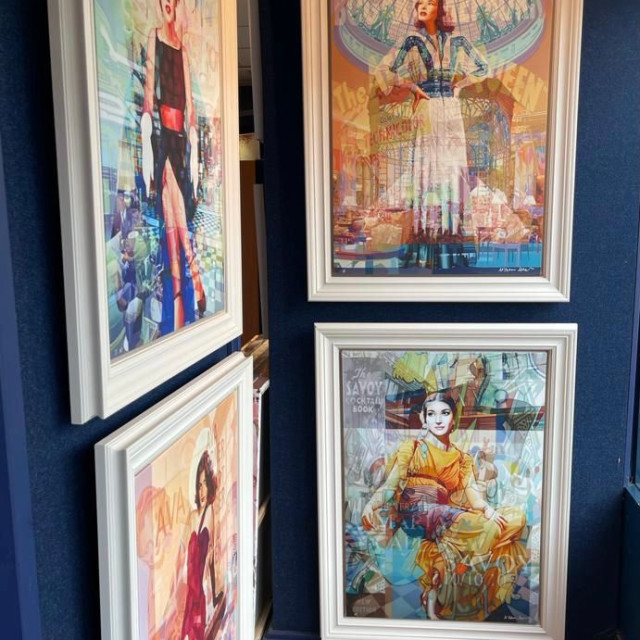 All works are beautifully framed and ready to hang.