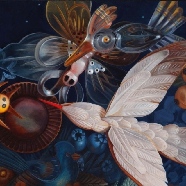 Ann Ekstrom, Night Bloomer, Oil on Canvas
