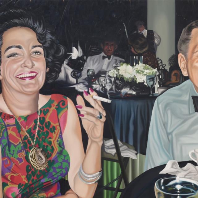 "Nancy Lamb, The Menthol Mood, oil on canvas, 42 x 85"", 2015"
