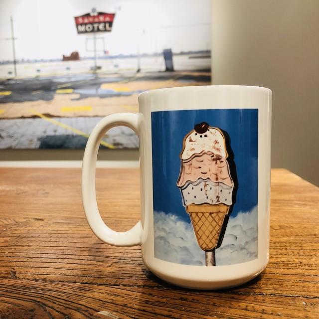I Scream For Ice Cream Mug, Daniel Blagg Coffee Mug