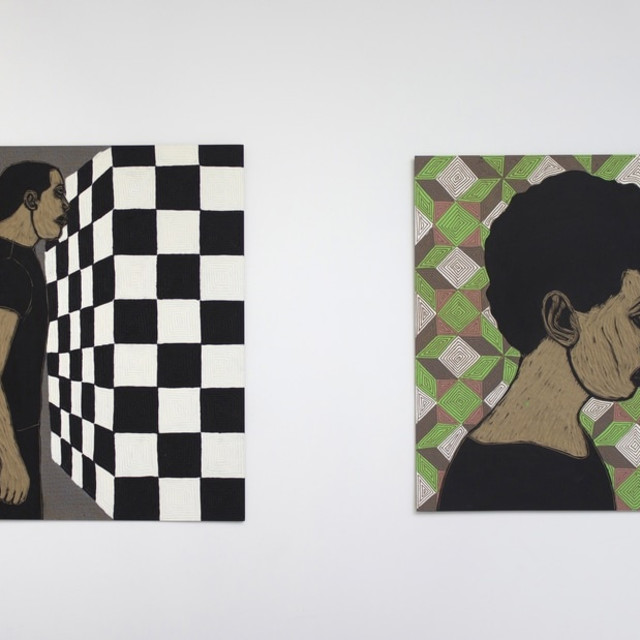 Ephrem Solomon in Guess Who's Coming to Dinner, Richard Taittinger Gallery, New York, USA.
