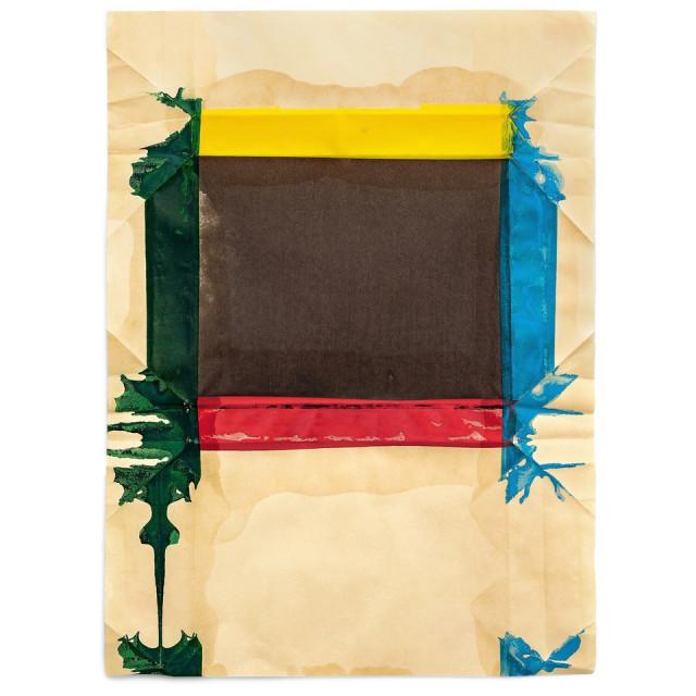 Jeff McMillan Biblio (Hi-Lo), 2018 Oil, India ink on rice paper 65 x 48.5 cm