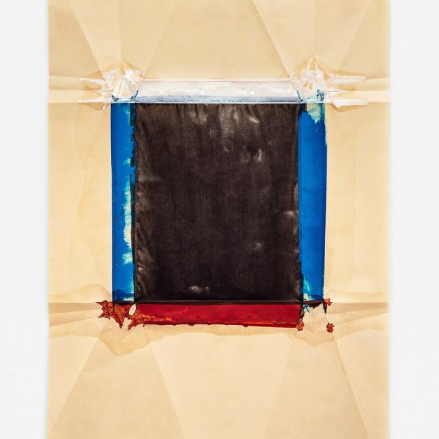Jeff McMillan Biblio (CT), 2018 Oil, India ink on rice paper 65 x 48.5 cm