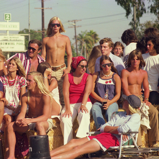 "Hugh Holland's ""Skate Contest Spectators, Torrance (No. 62)"" will be displayed on a billboard on 8051 Beverly Blvd."