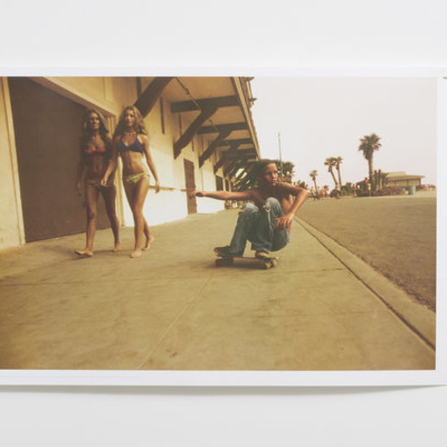 Wax Poster: Hugh Holland, Sidewalk Surfer, Huntington Beach, 1976